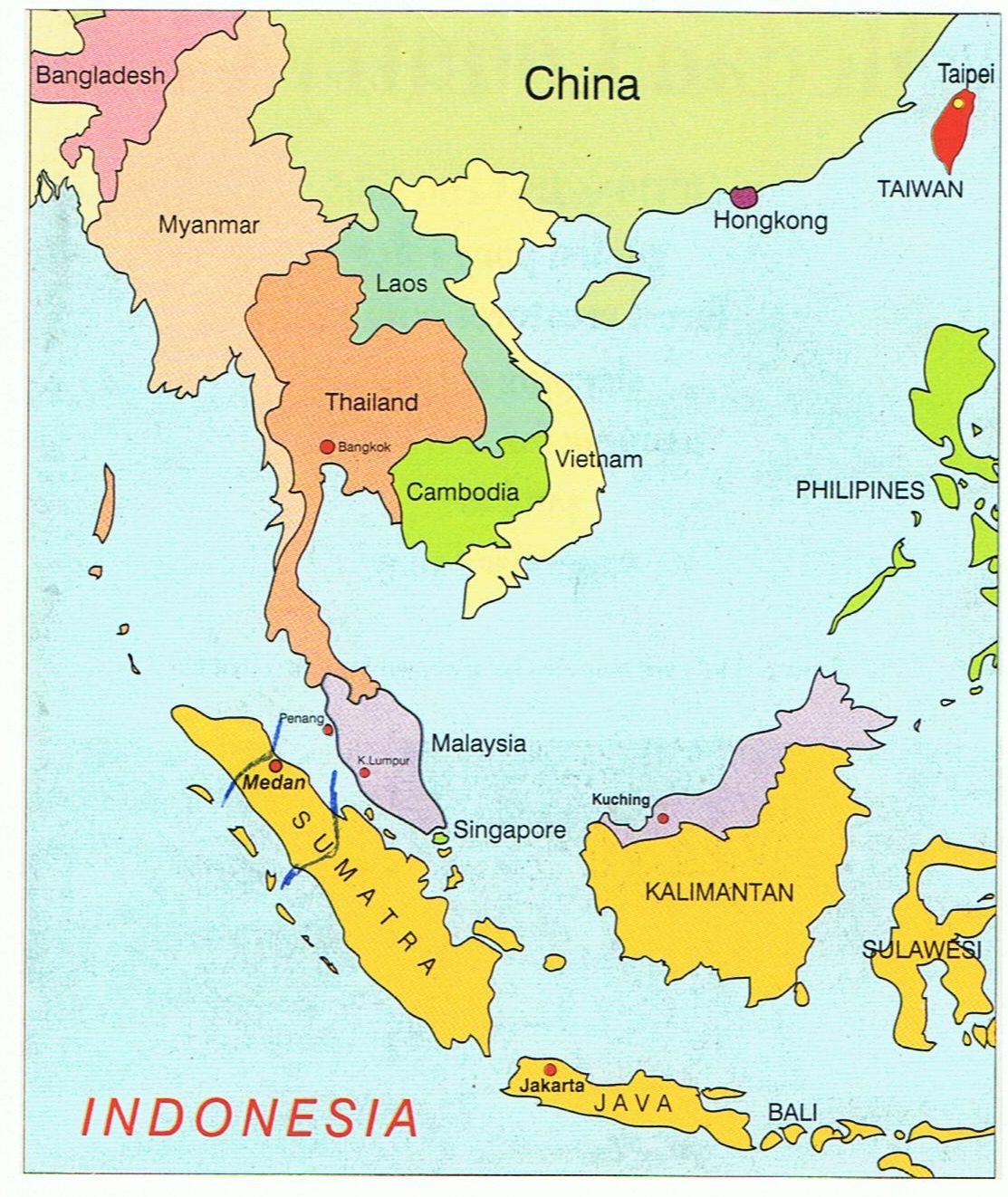 world map indonesia Medan Country Club